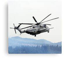 Marine Helicopter At Air Show Metal Print