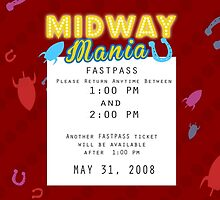 Midway Mania Fastpass by Margybear