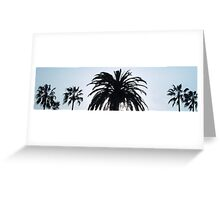 Palm Tree Panoramic  Greeting Card