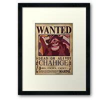 Wanted Chahige - One Piece Framed Print