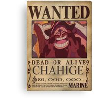 Wanted Chahige - One Piece Canvas Print