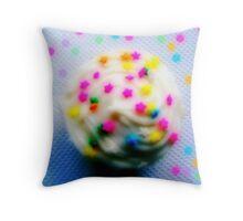 Rainbow Brite Star Sprinkles Cupcake Throw Pillow
