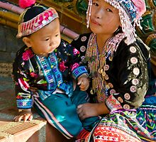 Thai Tribe Little girl by Cvail73