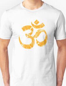OM Yoga Spiritual Symbol in Distressed Style T-Shirt