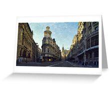 Por la Gran Vía... por Madrid Greeting Card