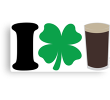 I Love Guiness Canvas Print