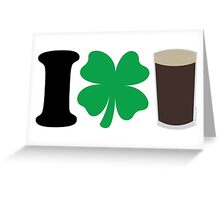 I Love Guiness Greeting Card