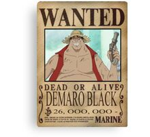 Wanted Luffy Fake - One Piece Canvas Print