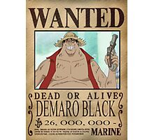 Wanted Luffy Fake - One Piece Photographic Print