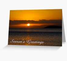 Coles Bay sunset, Season's Greetings Greeting Card