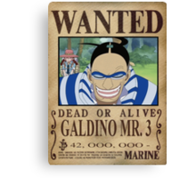 Wanted Mr3 - One Piece Canvas Print
