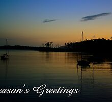 Port Arthur sunset, Season's Greetings by Steven Weeks