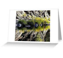 High Mountain Reflections, Fall Day El Dorado  Park, California Greeting Card