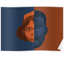 Lee and Clementine Face Art Poster