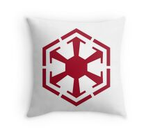 Imperial Crest Red Throw Pillow