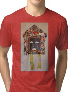 You're Standing In My Eye - Framed Tri-blend T-Shirt