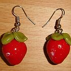 Strawberry Earrings by ScarletDragnfly