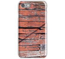 Old Red Wall w/ Diagonal Shadow iPhone Case/Skin