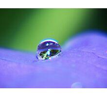 A Single Raindrop Photographic Print
