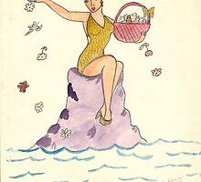 Angel     Retro 1950's by Rosalie Scanlon
