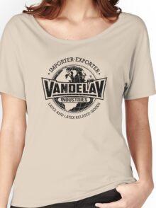 Vandelay Industries (Black) Women's Relaxed Fit T-Shirt