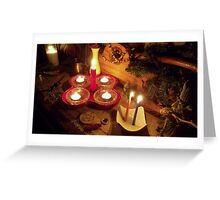 Hecate Altar Fire Greeting Card