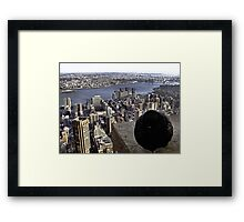 It's Chilly Up Here (New York) Framed Print