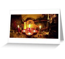 Hecate Yule Altar Greeting Card