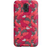 Purrrfect Pattern (Red) Samsung Galaxy Case/Skin