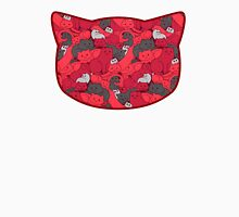 Purrrfect Pattern (Red) Men's Baseball ¾ T-Shirt