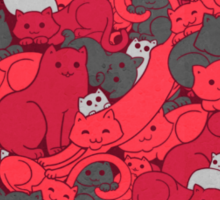 Purrrfect Pattern (Red) Sticker