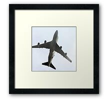 Ted New Jet In The Fog  Framed Print