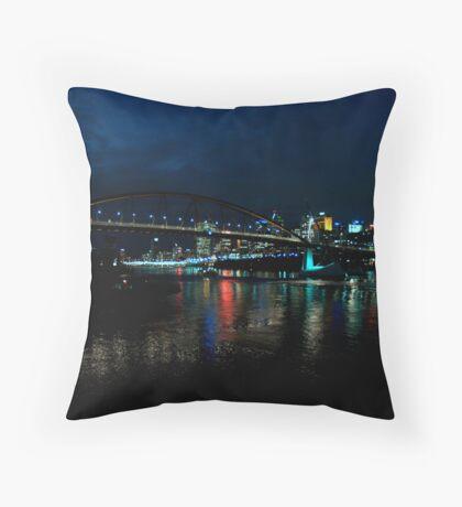 South Bank Lights Throw Pillow