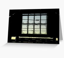 Old Mungo Woolshed Window Greeting Card