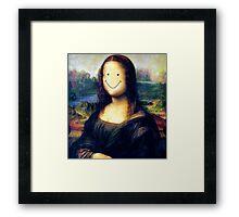 Mona Lisa Smile Framed Print