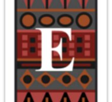 Letter E, Tribal Alphabet Sticker