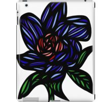 Bivouac Flowers Red Green Blue iPad Case/Skin