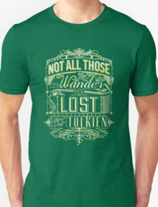 Lost Typography - gold T-Shirt