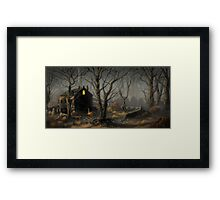 Creepy House Framed Print