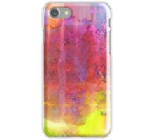 PASTEL IMAGININGS 2 Bold Rainbow Abstract Watercolor Painting Colorful Textural Purple Pink Yellow Summer Fine Art iPhone Case/Skin