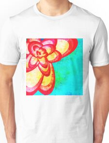 Red Abstract Flower Unisex T-Shirt