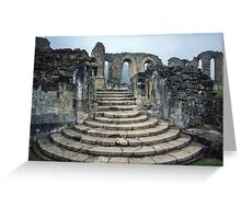 Entrance to Bylands Monastery North Yorkshire England 19840602 0001 Greeting Card