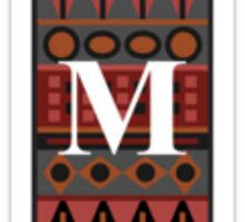 Letter M, Tribal Alphabet Sticker