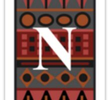 Letter N, Tribal Alphabet Sticker