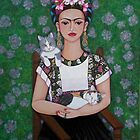 Frida cat lover by Madalena Lobao-Tello