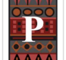 Letter P, Tribal Alphabet Sticker