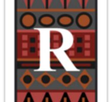 Letter R, Tribal Alphabet Sticker