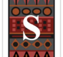 Letter S, Tribal Alphabet Sticker