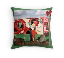 Retro camper trailer trash gifts Throw Pillow