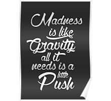 Madness is like gravity Poster